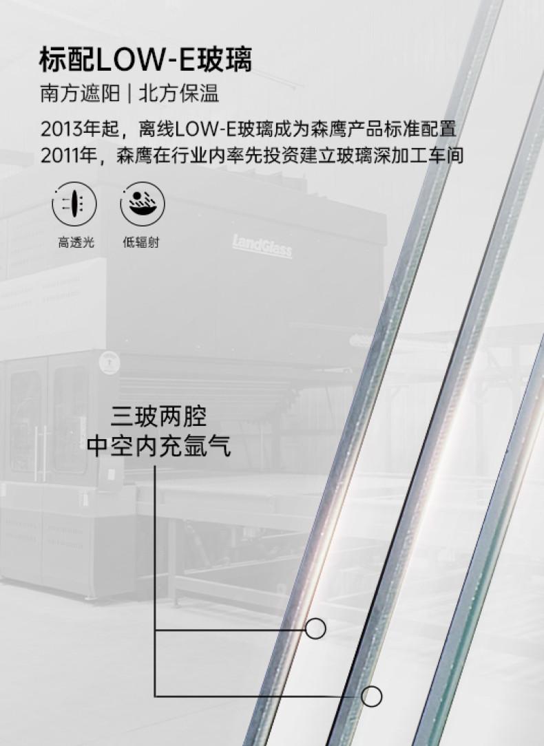森鹰1号新纯平铝包木空调窗丨S120