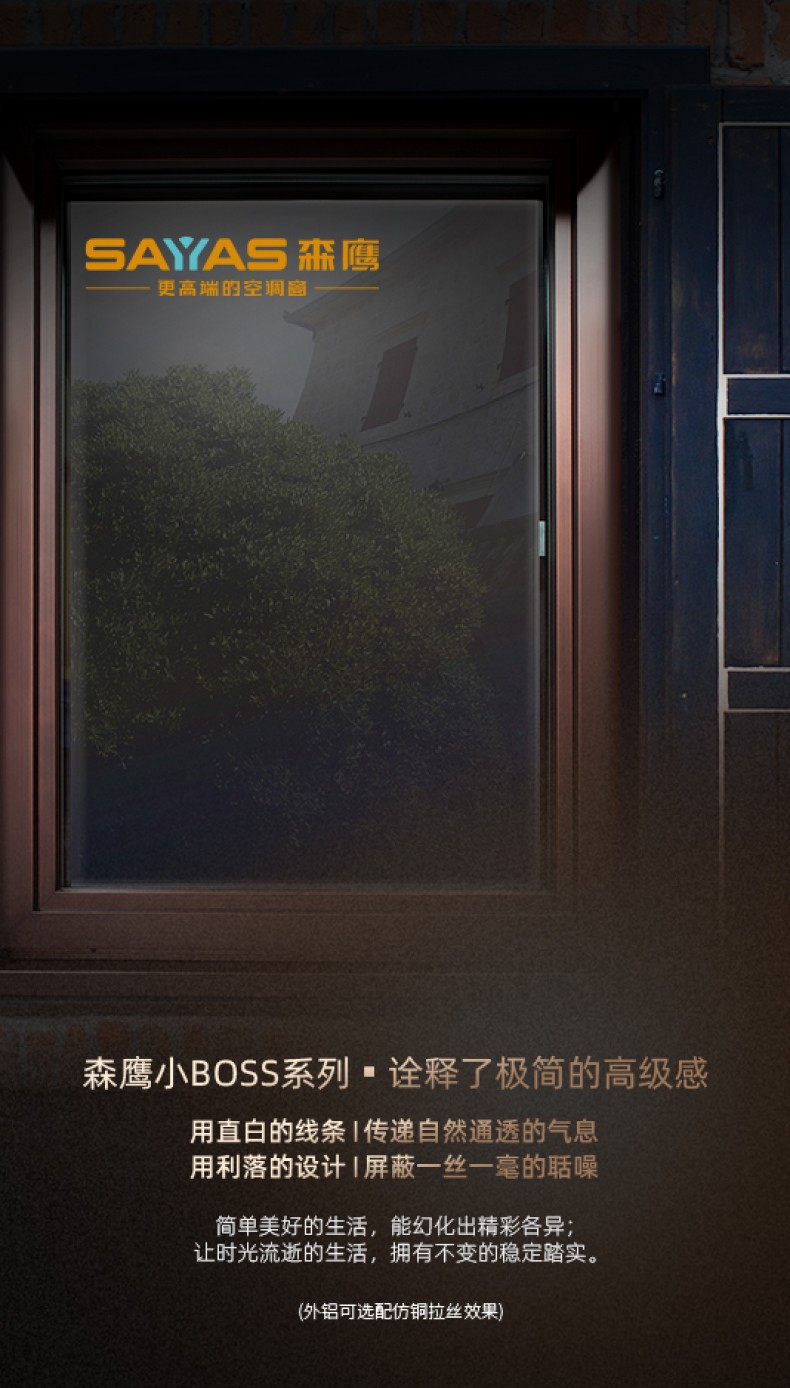 森鹰小BOSS空调窗丨TS120