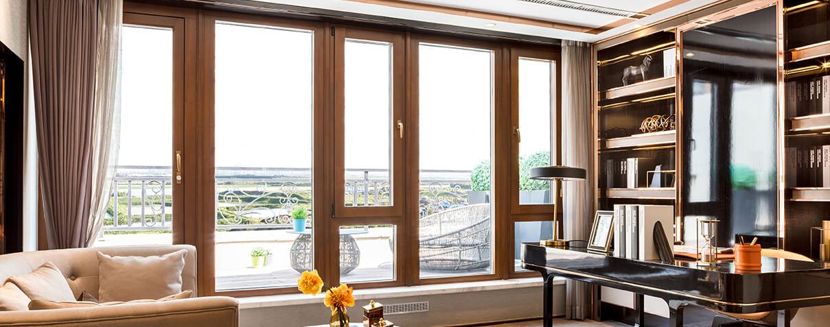 森鹰1号铝包木空调窗丨S101