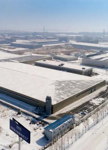 暴雪中的世界最大被动式工厂